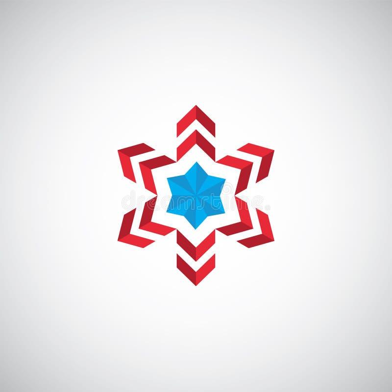 Abstrakt logo för stjärnasymbolillustration stock illustrationer