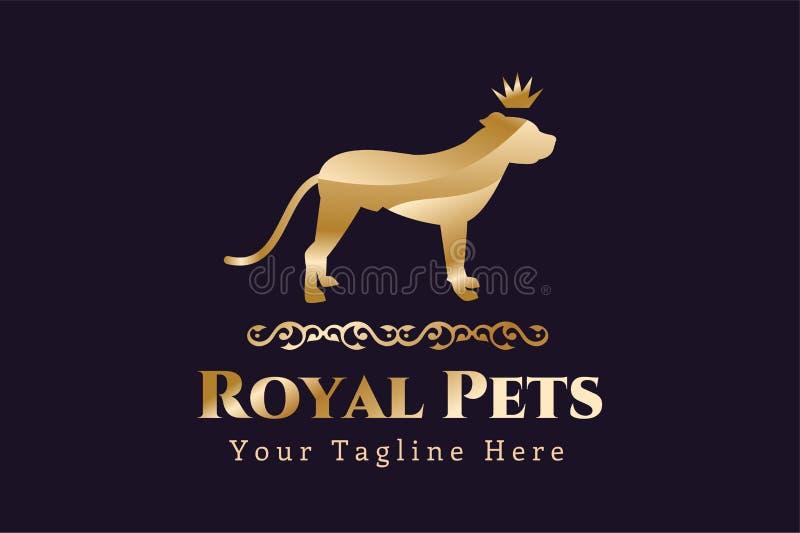 Abstrakt logobegrepp för älsklings- hund stock illustrationer