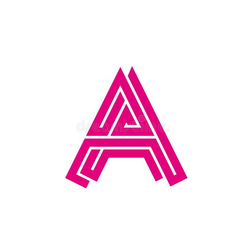 Abstrakt logobokstav A - labyrint Idérik logo för den företags identiteten av företagsbokstaven A från linjerna rengöringsduk för royaltyfri illustrationer