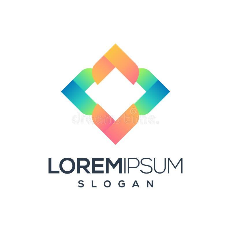 Abstrakt logodesignvektor, illustration som är klar att använda royaltyfri illustrationer