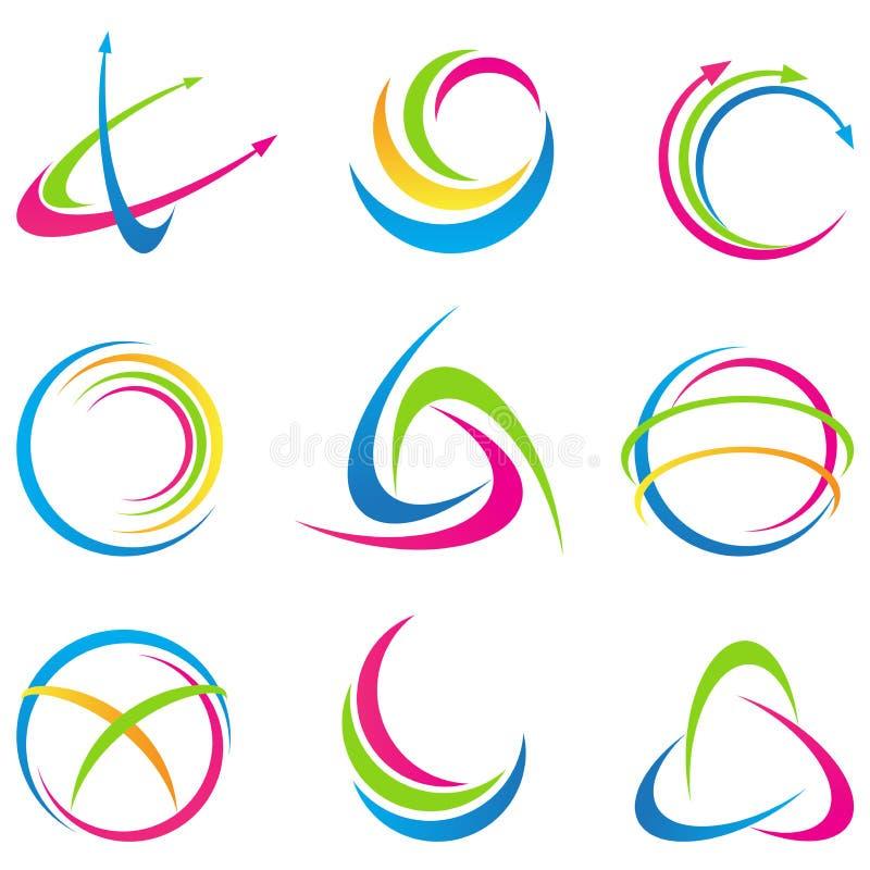 Abstrakt logoer vektor illustrationer