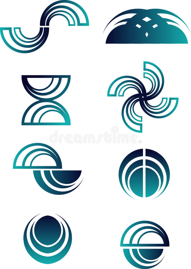 abstrakt logoset vektor illustrationer