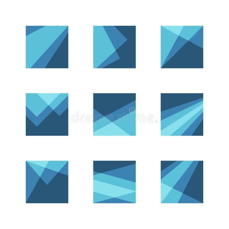 abstrakt logoset royaltyfri illustrationer