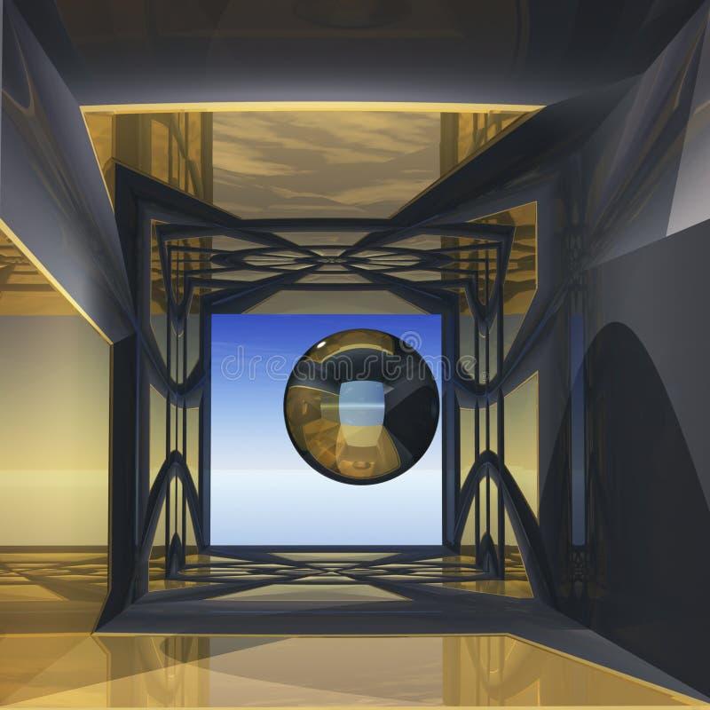 abstrakt lokalsikt vektor illustrationer