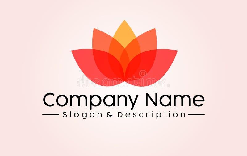 Abstrakt Lotus Zdrój i Firma logo obrazy stock