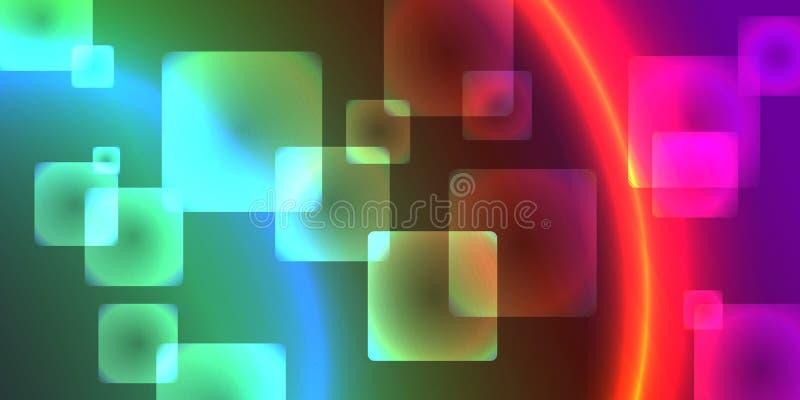 Abstrakt lutning en bakgrund av fyrkanter vektor vektor illustrationer