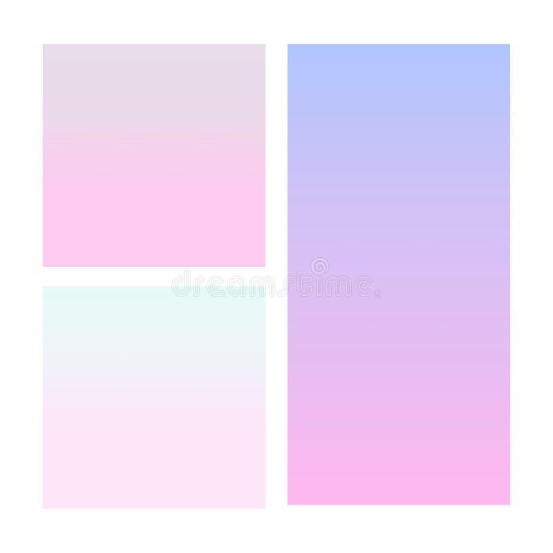 Abstrakt lutning i sf?ren av violett som ?r rosa, bl?tt kantlagrar l?ter vara vektorn f?r oakbandmallen stock illustrationer