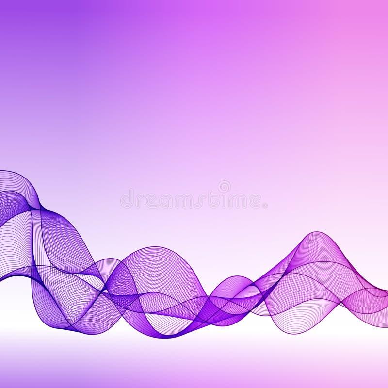 Abstrakt lutningbakgrund för universal med genomskinlig Violet W stock illustrationer