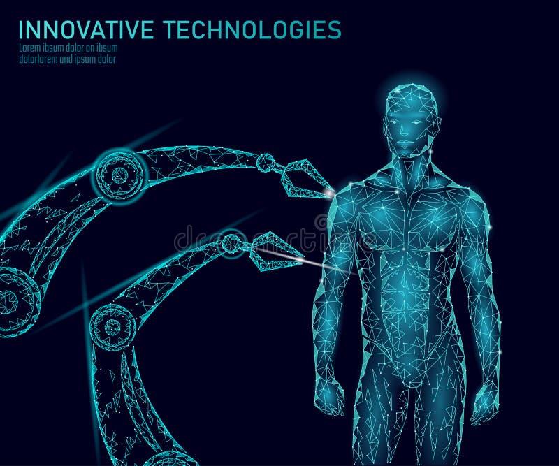 Abstrakt människokroppanatomi Teknologi för innovation för DNAteknikvetenskap För forskninggen för genom vård- medicin för terapi royaltyfri illustrationer