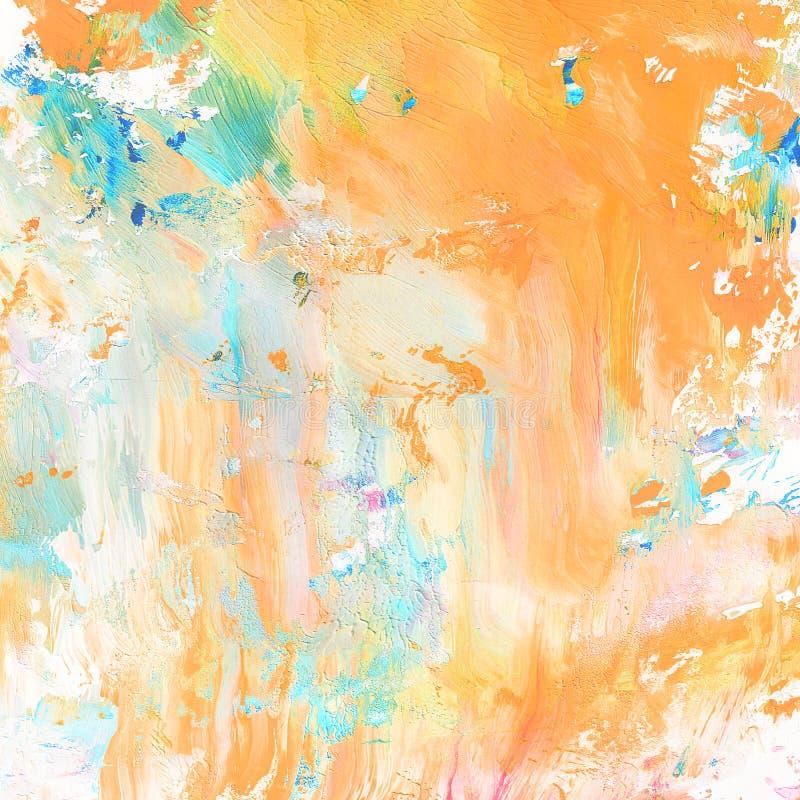 abstrakt målad bakgrundshand royaltyfri illustrationer