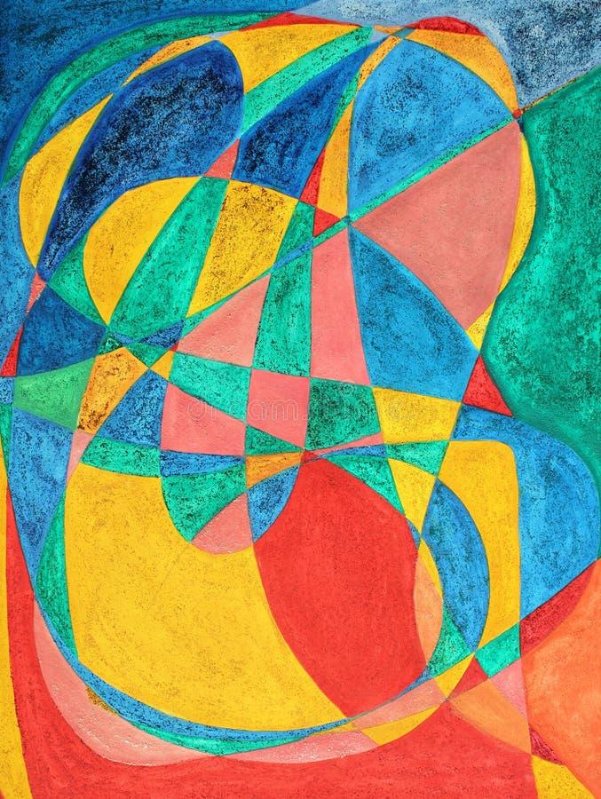 abstrakt målad bokstavsmassage vektor illustrationer