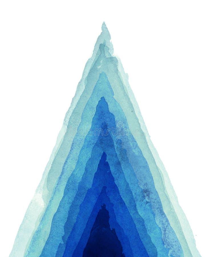 abstrakt målad vattenfärg för bakgrund hand royaltyfri illustrationer