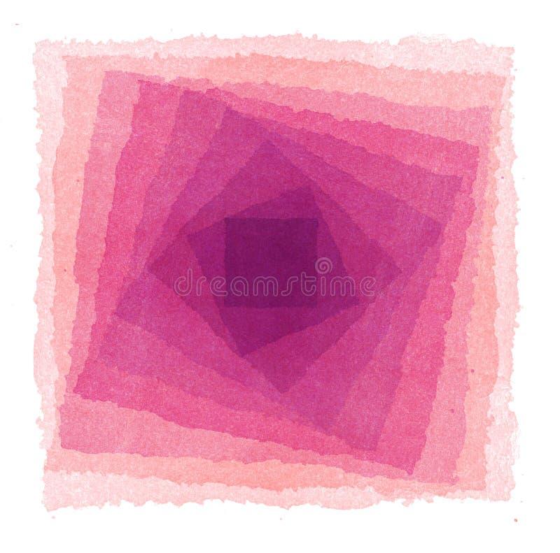 abstrakt målad vattenfärg för bakgrund hand vektor illustrationer