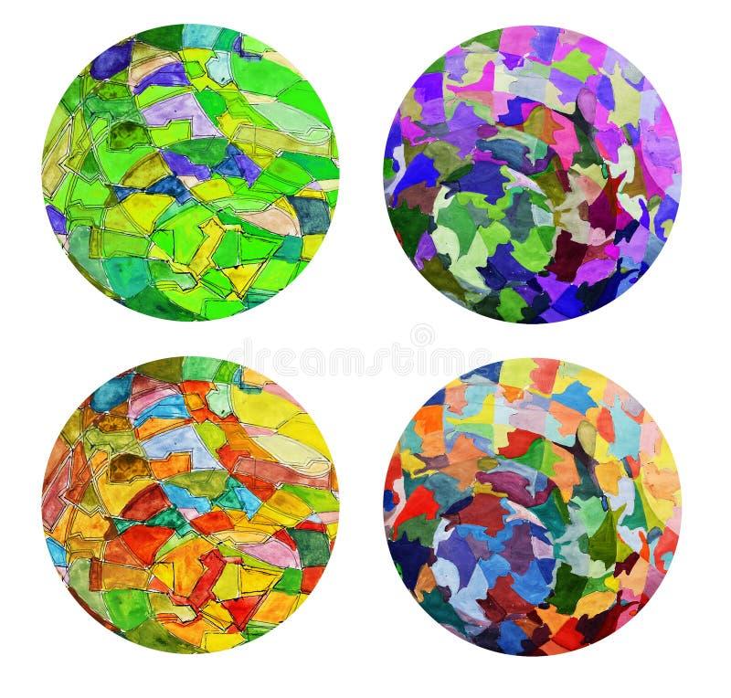abstrakt målarfärg för konstcollagefärg stock illustrationer