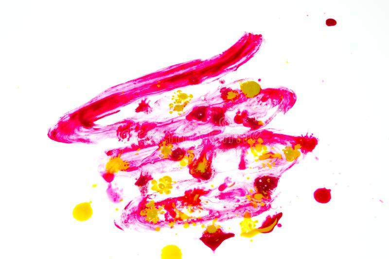 Abstrakt målarfärgfärgstänk på den vita bakgrunden royaltyfri illustrationer