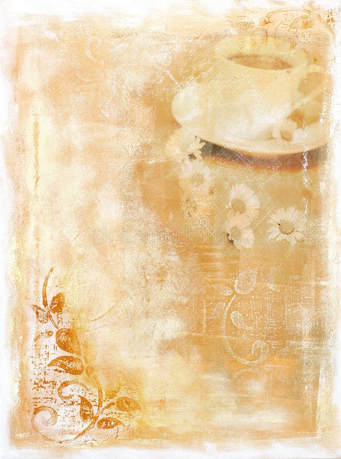 abstrakt målat bakgrundskaffe stock illustrationer