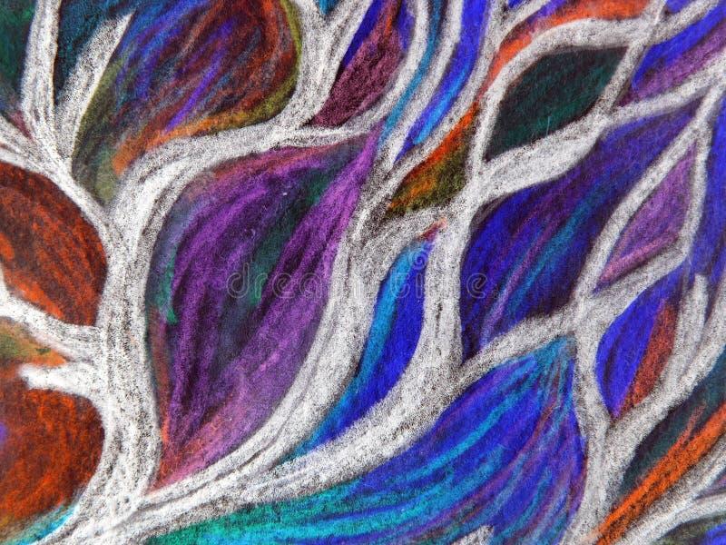 abstrakt målat färgrikt royaltyfri illustrationer