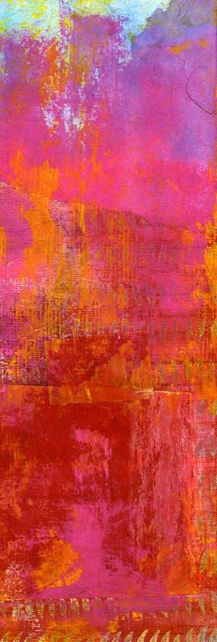 abstrakt målningspink royaltyfri illustrationer