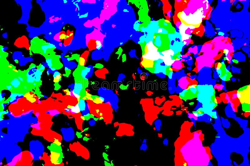 Abstrakt mångfärgad bakgrund, textur, kontrast stock illustrationer