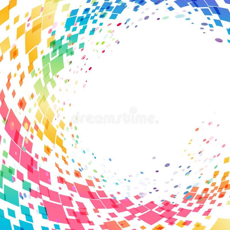 Abstrakt mångfärgad cirkelbakgrund vektor illustrationer