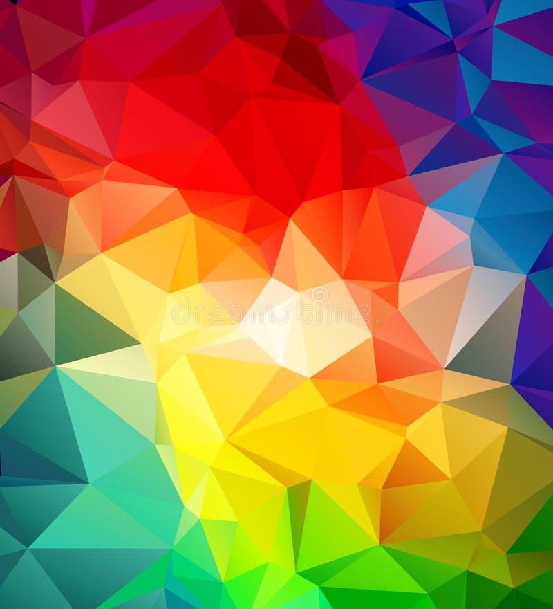 Abstrakt mångfärgad geometrisk modell vektor illustrationer