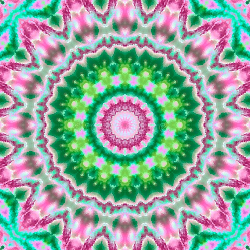 Abstrakt mångfärgad kalejdoskop för silkerundamandala vektor illustrationer