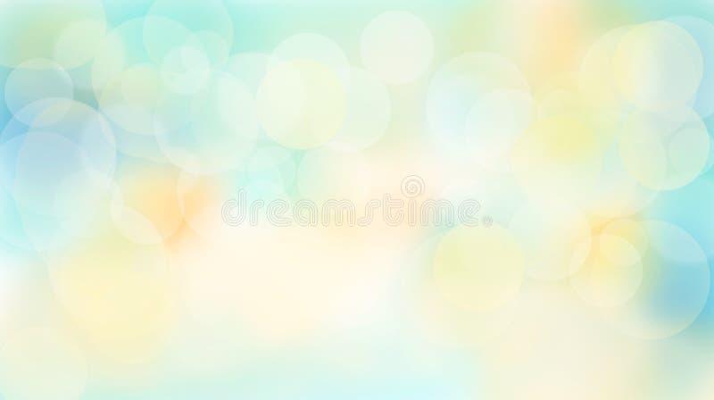 Abstrakt mångfärgad sommarlik bokehbakgrund royaltyfri illustrationer