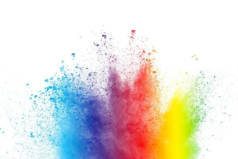 Abstrakt mångfärgat pulver plaskar fotografering för bildbyråer