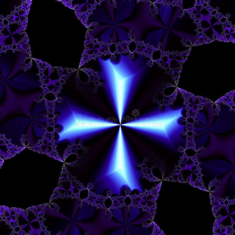 abstrakt mönstrad white för bakgrundsblack blått kors vektor illustrationer