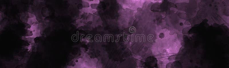 Abstrakt mörk målad bakgrund med urblekt effekt för tappningvattenfärg royaltyfri bild
