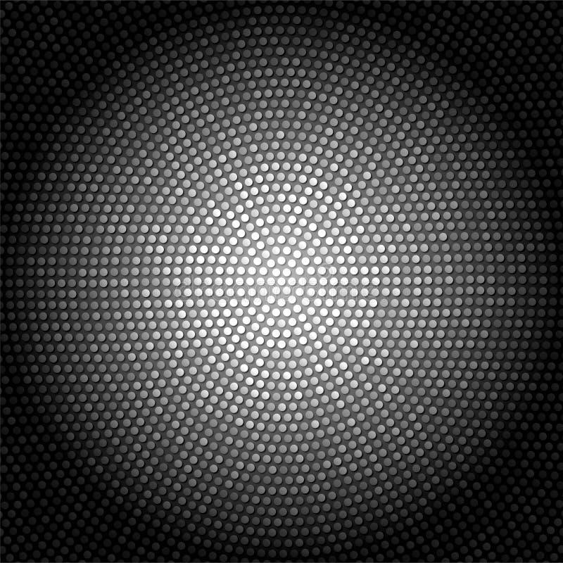 Abstrakt mörk skinande metallisk bakgrund med ljusa Dots Pattern royaltyfri illustrationer