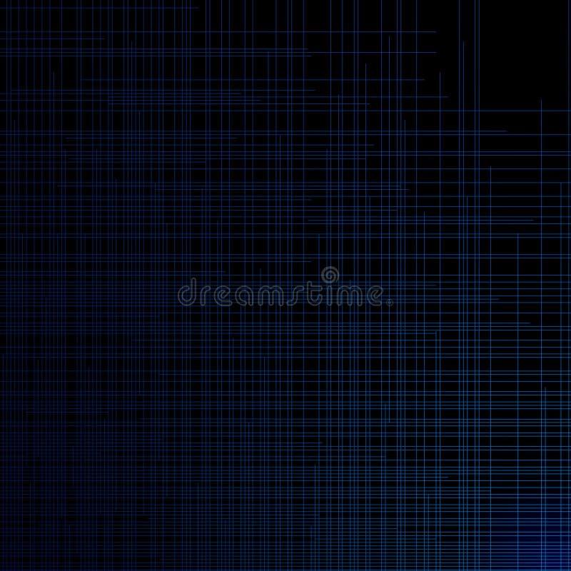 Abstrakt mörker - blå bakgrund för teknologi vektor illustrationer