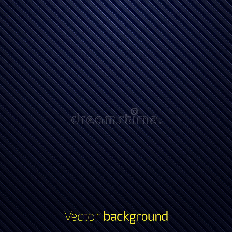 Abstrakt mörker - randig bakgrund för blått stock illustrationer