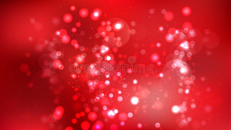 Abstrakt mörkt - röd Bokeh bakgrund stock illustrationer