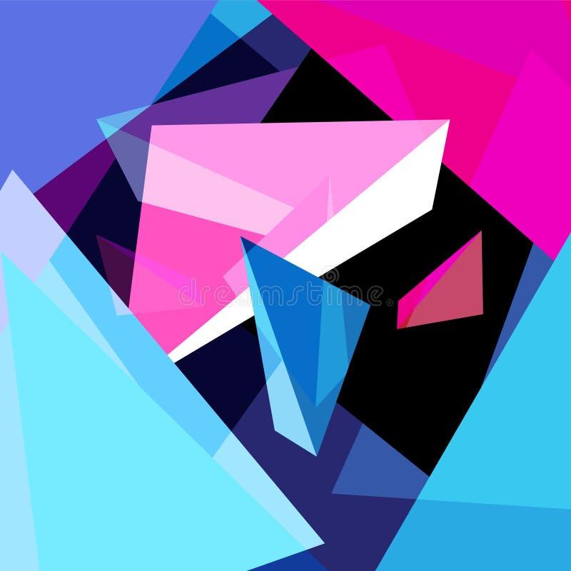 Abstrakt m?ngf?rgad geometrisk moderiktig bakgrund stock illustrationer