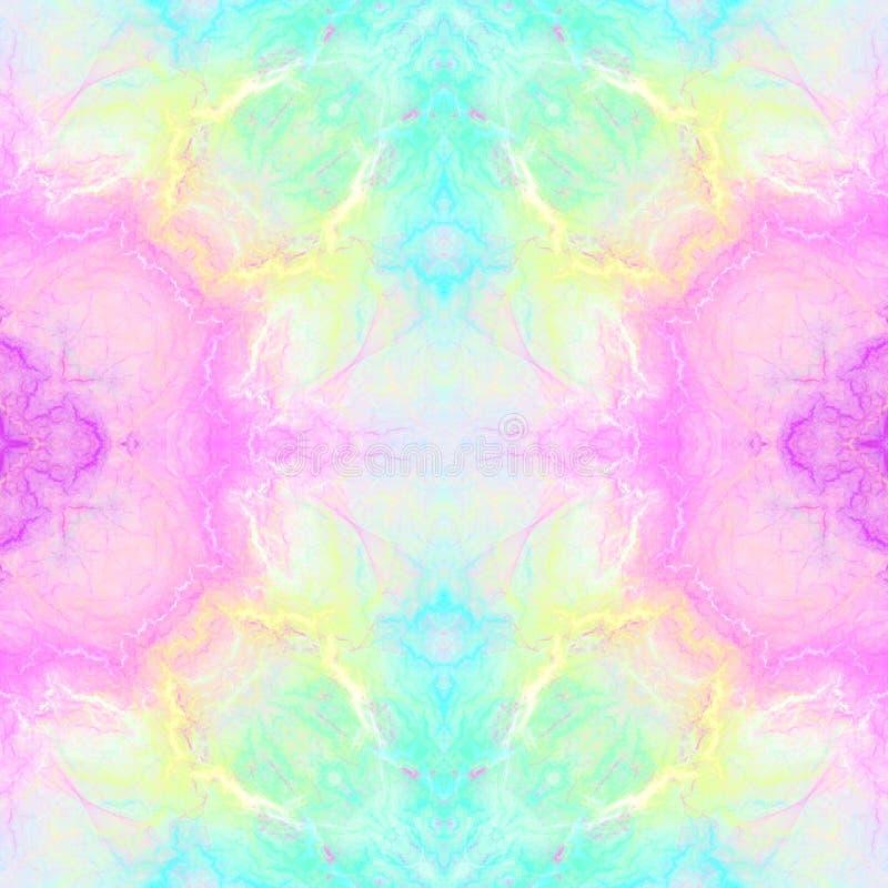 Abstrakt m?ngf?rgad kalejdoskopisk bakgrund S?ml?s modell f?r inpackningslegitimationshandlingar och tyg, pappers- tryck vektor illustrationer