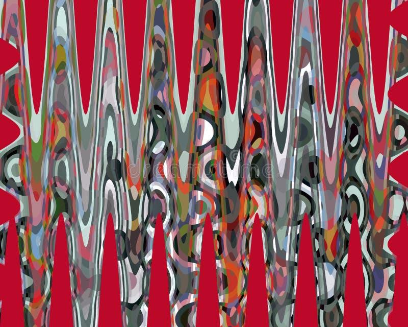 Abstrakt macha czerwone grafika, geometrie, tło i teksturę, ilustracja wektor
