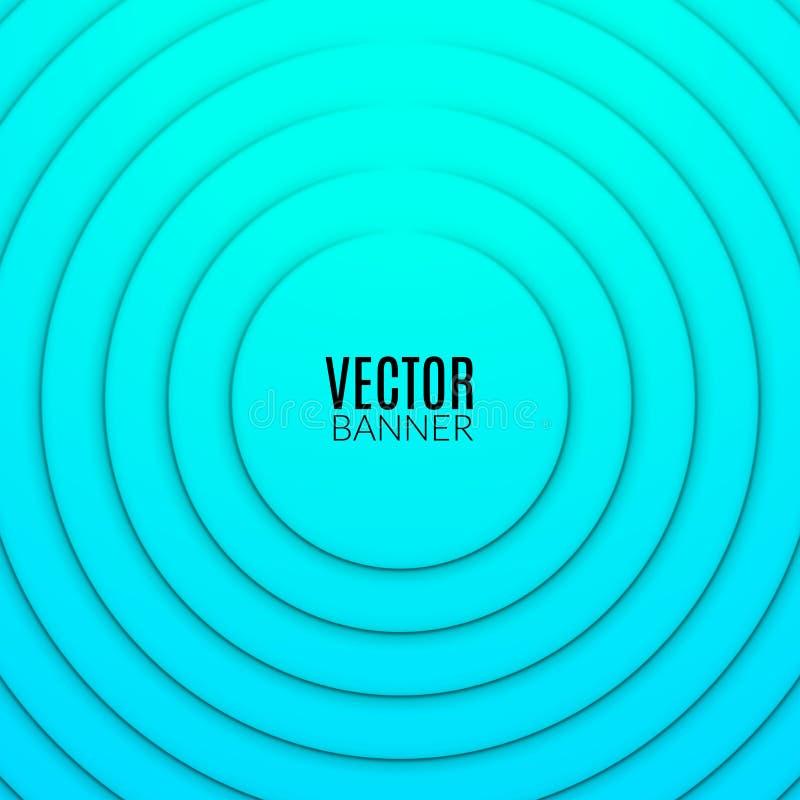 Abstrakt mall för design för cirkelrundavåg Färgrik virvelorientering stock illustrationer