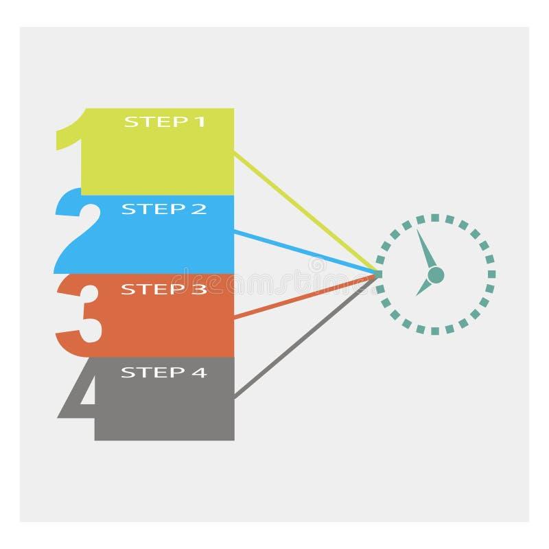 Abstrakt mall för infographicsnummeralternativ Grå färgbakgrund också vektor för coreldrawillustration vektor illustrationer