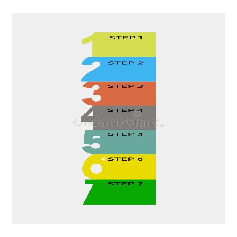 Abstrakt mall för infographicsnummeralternativ Grå färgbakgrund också vektor för coreldrawillustration royaltyfri illustrationer