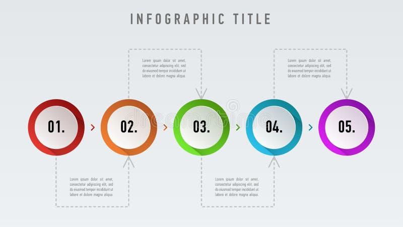 Abstrakt mall för infographicsnummeralternativ Illustration för vektor för Infographic beståndsdeldesign Information om rengöring vektor illustrationer