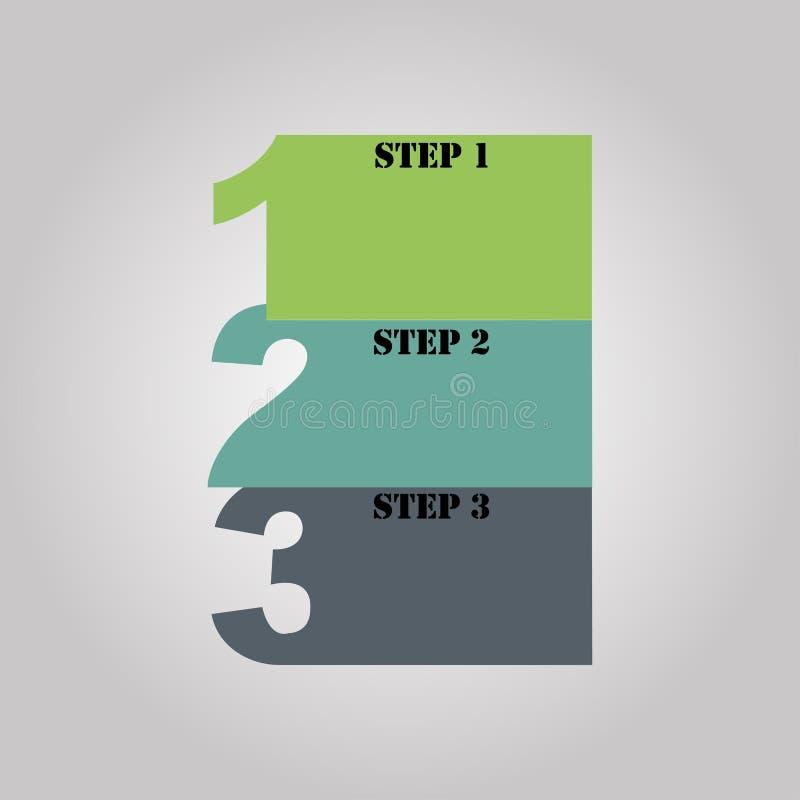Abstrakt mall för infographicsnummeralternativ också vektor för coreldrawillustration stock illustrationer