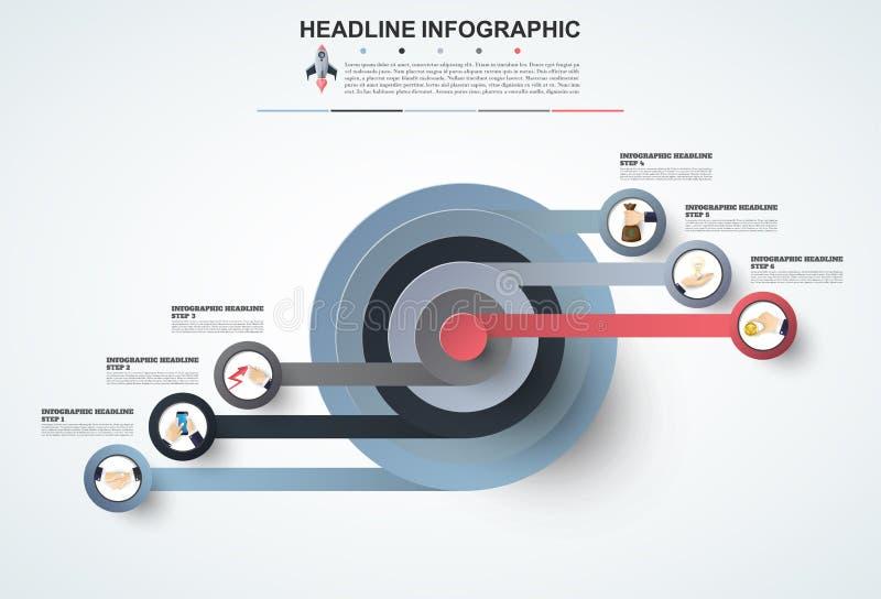 Abstrakt mall för infographicsnummeralternativ Vektorillustrati vektor illustrationer