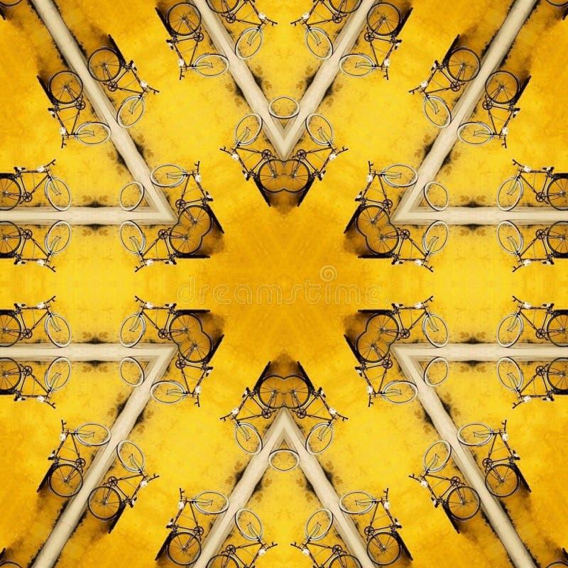 Abstrakt mall för mandalacirkuleringsdesign arkivbilder