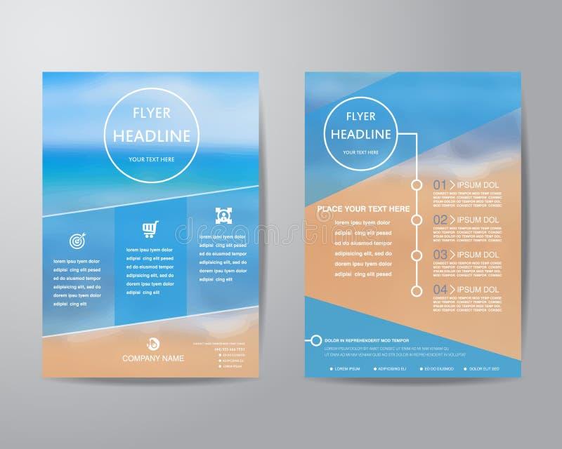 Abstrakt mall för orientering för design för triangelbroschyrreklamblad i si A4 vektor illustrationer