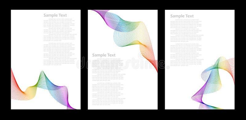 abstrakt mallar för bakgrundsfärgregnbåge royaltyfri illustrationer