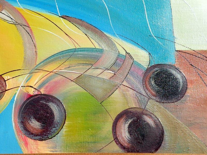 abstrakt malować tekstury royalty ilustracja