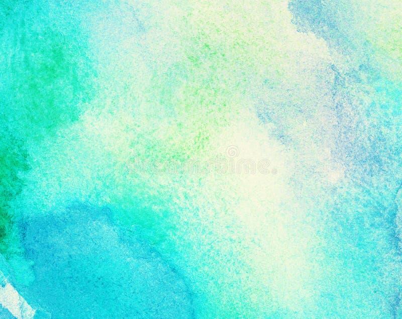 Abstrakt malująca akwareli woda, kolorowa wiosna obrazy royalty free