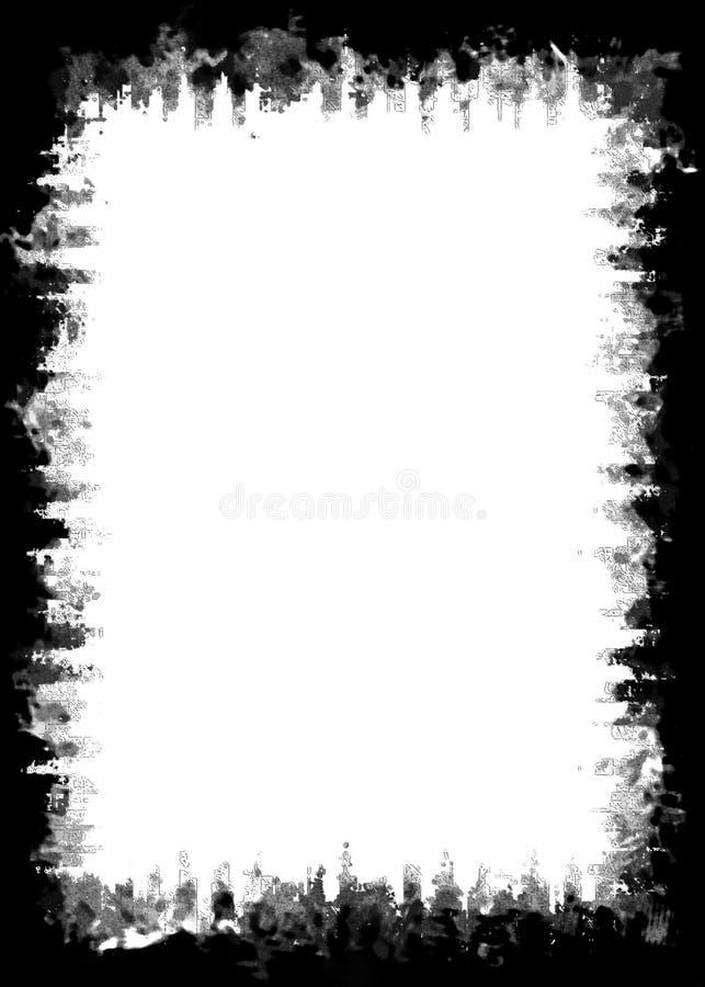Abstrakt Malująca Czarna fotografii krawędź dla portret fotografii ilustracja wektor