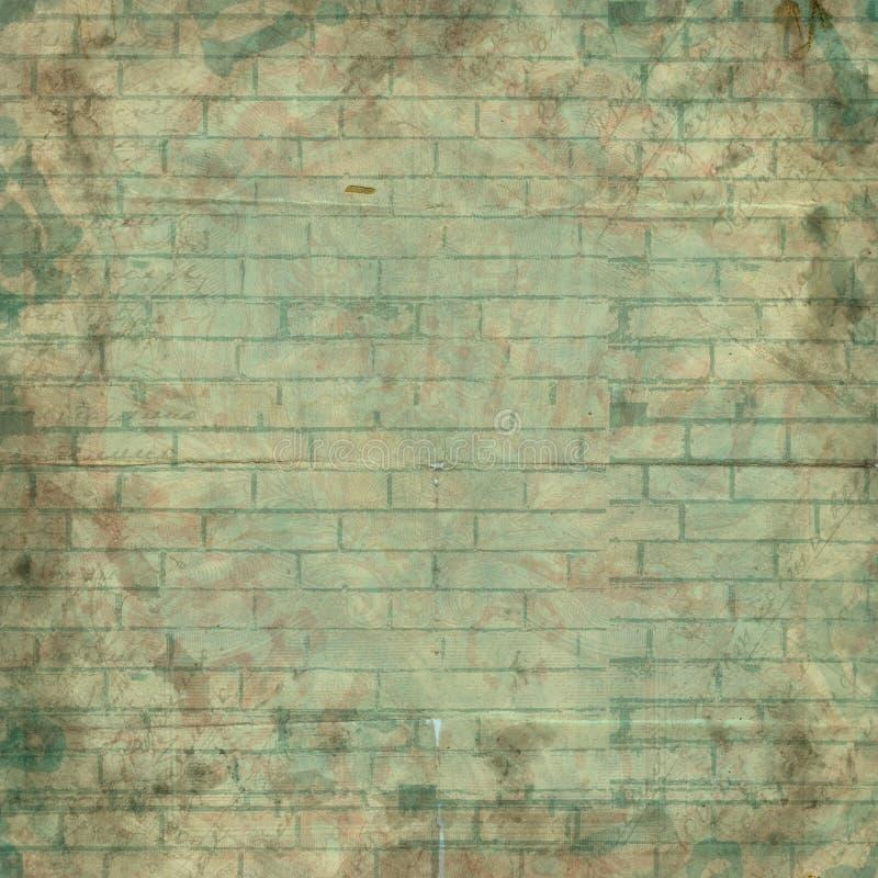 Abstrakt malujący ściana z cegieł dla projekta Tło dla prezentaci ilustracji